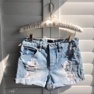 Forever 21 | Distressed denim shorts